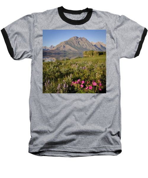 Baseball T-Shirt featuring the photograph Red Eagle Mountain by Jack Bell