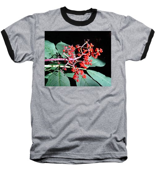 Red Elderberry Baseball T-Shirt