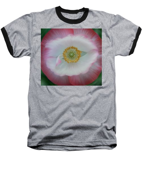 Baseball T-Shirt featuring the photograph Red Eye Poppy by Barbara St Jean