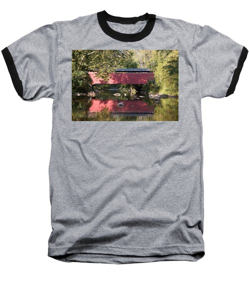 Red Fairhill Covered Bridge Two Baseball T-Shirt