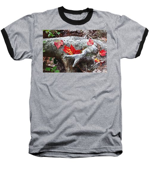 Red Fall Against Grey Baseball T-Shirt