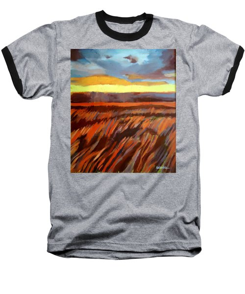 Baseball T-Shirt featuring the painting Red Field by Helena Wierzbicki