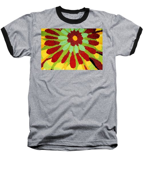 Baseball T-Shirt featuring the photograph Red Flower Rug by Janette Boyd