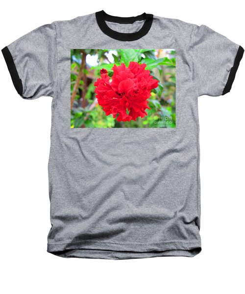 Baseball T-Shirt featuring the photograph Red Flower by Sergey Lukashin