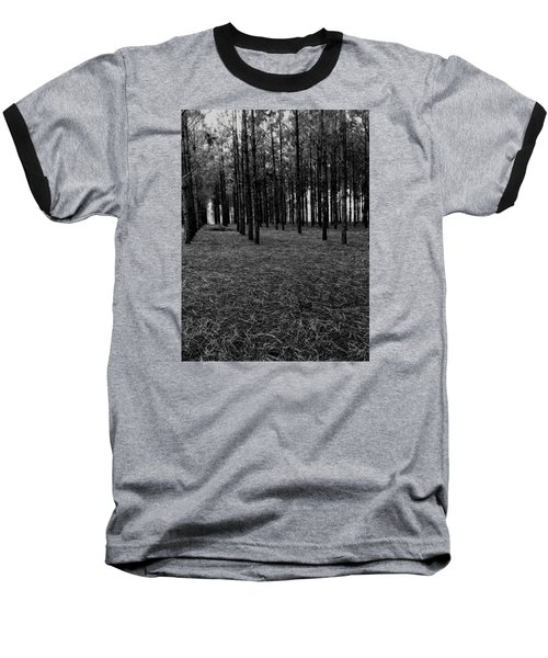 Red Forest In Black And White Baseball T-Shirt