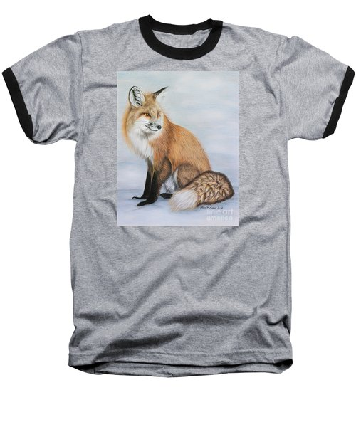 Red Fox Baseball T-Shirt by Lena Auxier