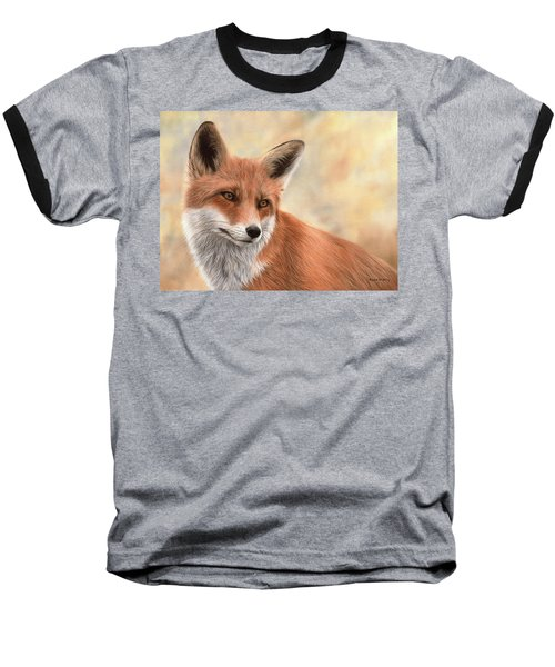 Red Fox Painting Baseball T-Shirt