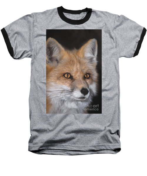 Baseball T-Shirt featuring the photograph Red Fox Portrait Wildlife Rescue by Dave Welling