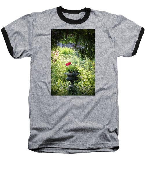 Red Geranium Baseball T-Shirt