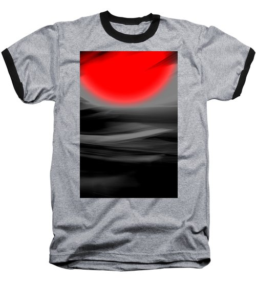 Baseball T-Shirt featuring the mixed media Red Giant by Terence Morrissey