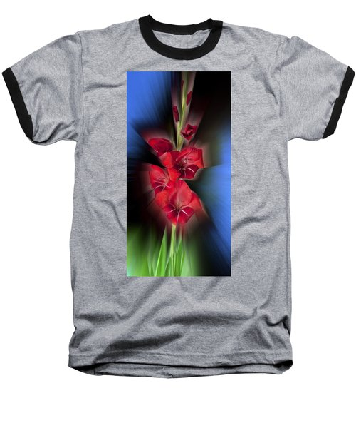 Baseball T-Shirt featuring the photograph Red Gladiola by Mark Greenberg