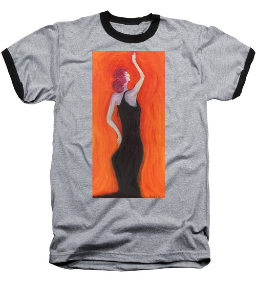 Red Haired Lady Baseball T-Shirt