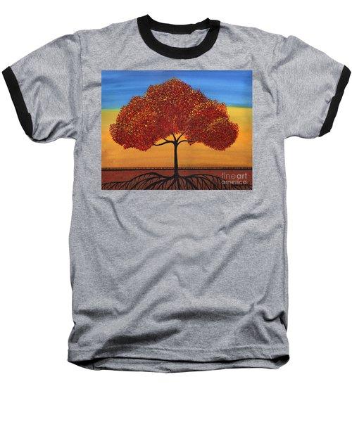 Red Happy Tree Baseball T-Shirt