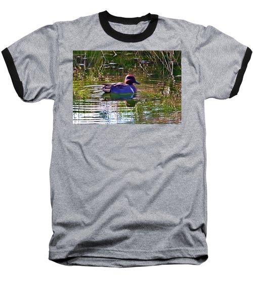 Red Headed Duck Baseball T-Shirt by Susan Garren
