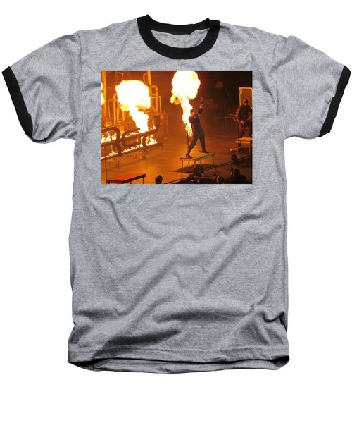 Baseball T-Shirt featuring the photograph Red Heats Up Winterjam In Atlanta by Aaron Martens