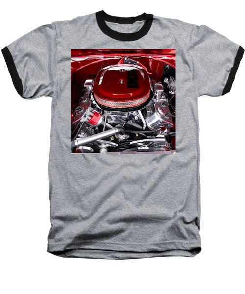 Red Hemi Sq Baseball T-Shirt