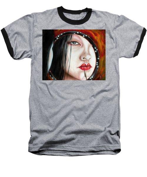 Baseball T-Shirt featuring the painting Red by Hiroko Sakai