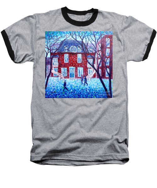 Red House In Montreal - Cityscape Baseball T-Shirt