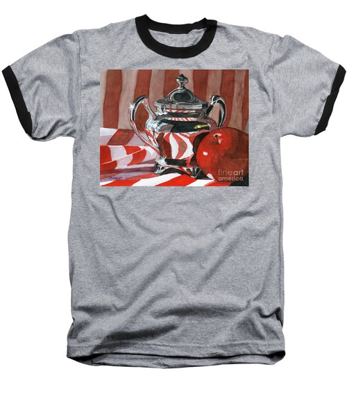 Red In Silver Baseball T-Shirt