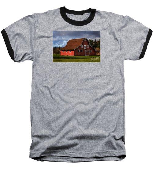 Baseball T-Shirt featuring the photograph Red Kirsop Barn by Jean OKeeffe Macro Abundance Art