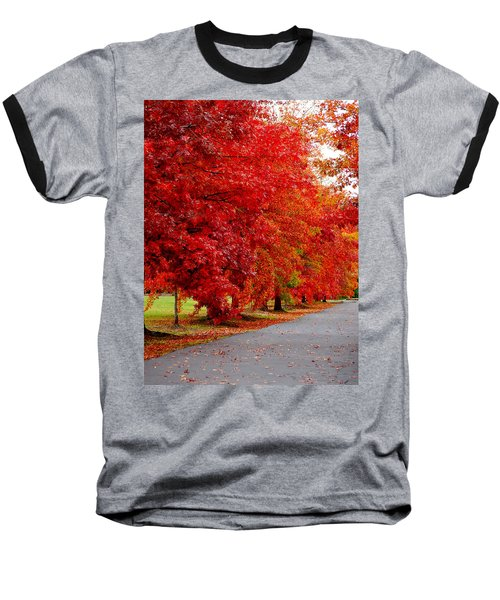 Red Leaf Road Baseball T-Shirt