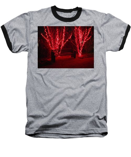 Red Lights And Bench Baseball T-Shirt