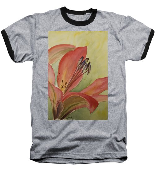 Red Lily Baseball T-Shirt