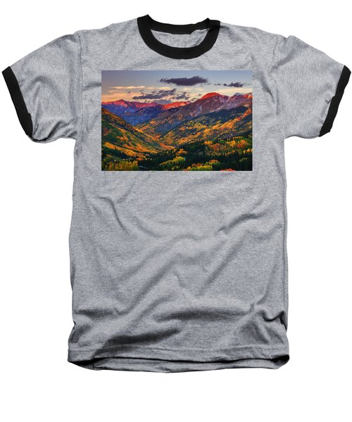 Red Mountain Pass Sunset Baseball T-Shirt