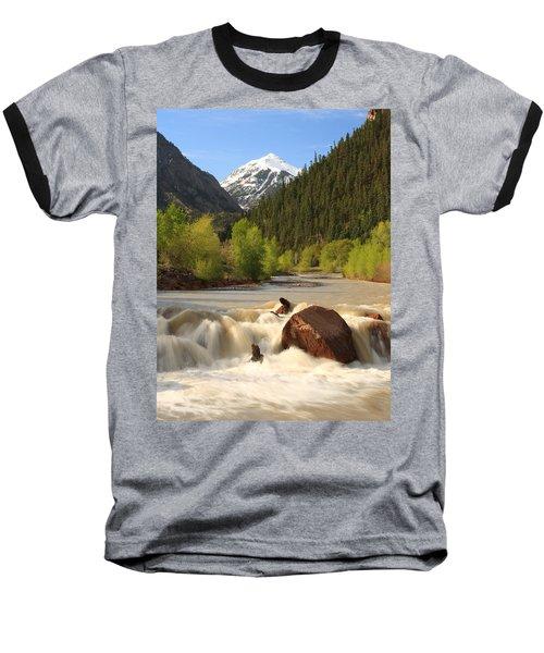 Red Mountain Snowmelt Baseball T-Shirt