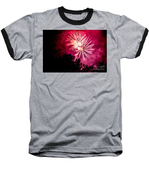Baseball T-Shirt featuring the photograph Red Night by Suzanne Luft