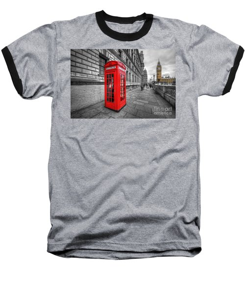 Red Phone Box And Big Ben Baseball T-Shirt