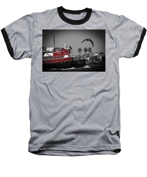 Red Pop Tugboat Baseball T-Shirt