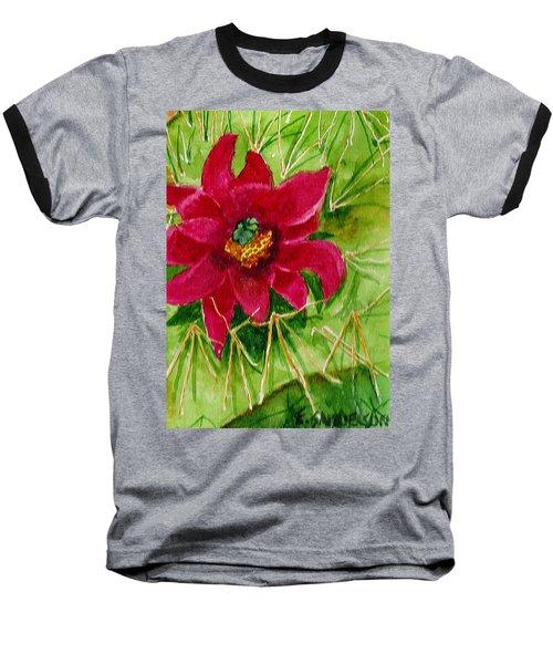 Red Prickly Pear Baseball T-Shirt