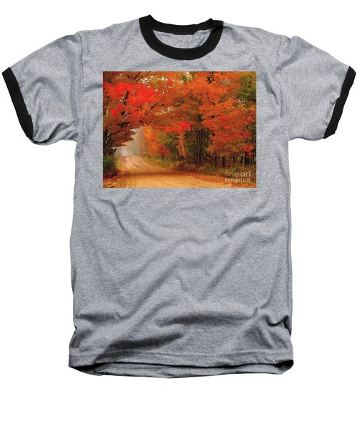 Red Red Autumn Baseball T-Shirt