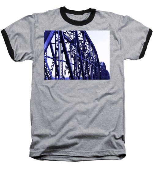 Baseball T-Shirt featuring the photograph Red River Train Bridge #5 by Robert ONeil