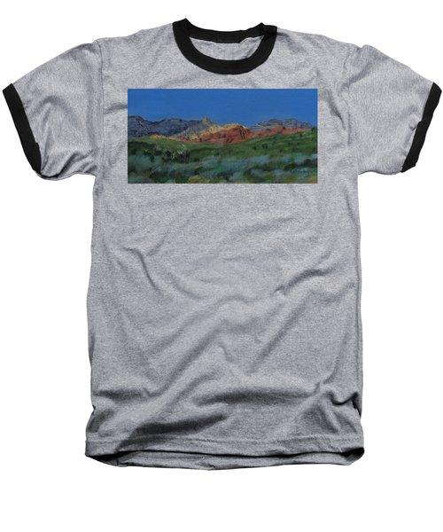 Red Rock Canyon Panorama Baseball T-Shirt