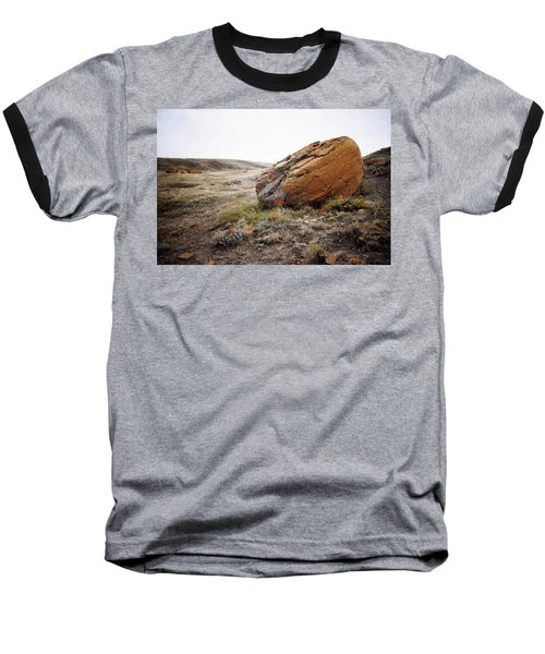 Red Rock Coulee IIi Baseball T-Shirt by Leanna Lomanski