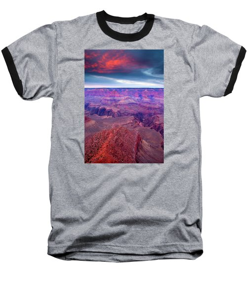 Red Rock Dusk Baseball T-Shirt by Mike  Dawson