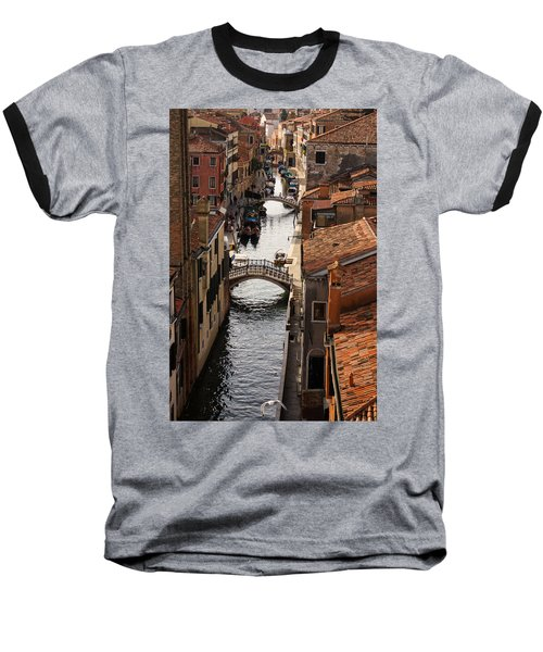 Red Roofs Of Venice Baseball T-Shirt