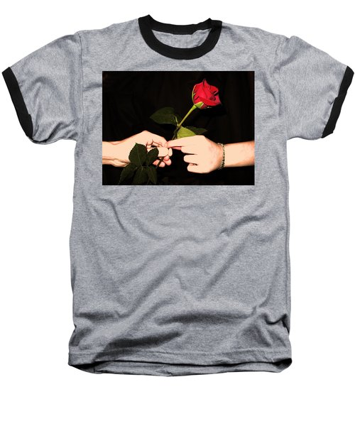 Red Rose By Jan Marvin Studios Baseball T-Shirt