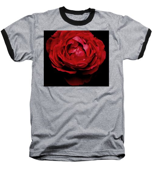 Baseball T-Shirt featuring the photograph Red Rose by Charlotte Schafer