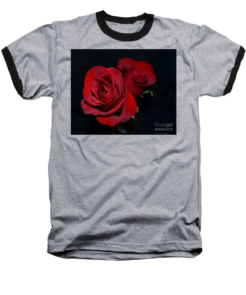 Baseball T-Shirt featuring the photograph Red Roses For A Blue Lady by Luther Fine Art