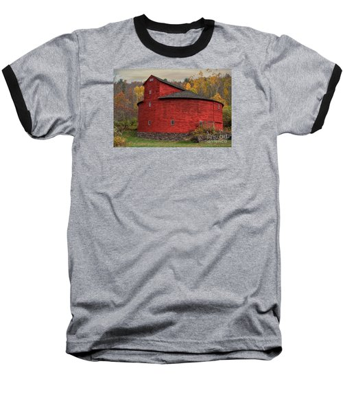 Red Round Barn Baseball T-Shirt