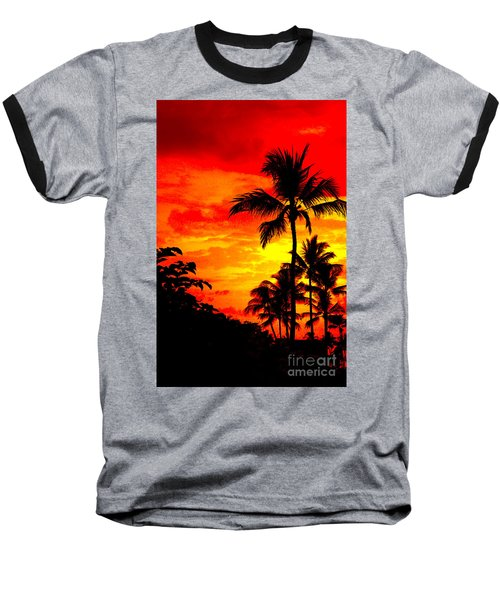 Baseball T-Shirt featuring the photograph Red Sky At Night by David Lawson