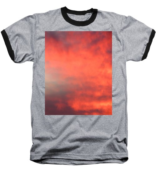 Red Sky At Night Baseball T-Shirt by Laurel Powell