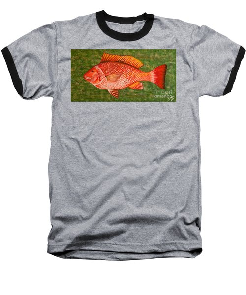 Red Snapper Baseball T-Shirt
