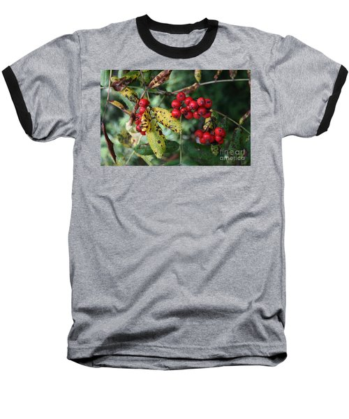 Red Summer Berries - Whistler Baseball T-Shirt