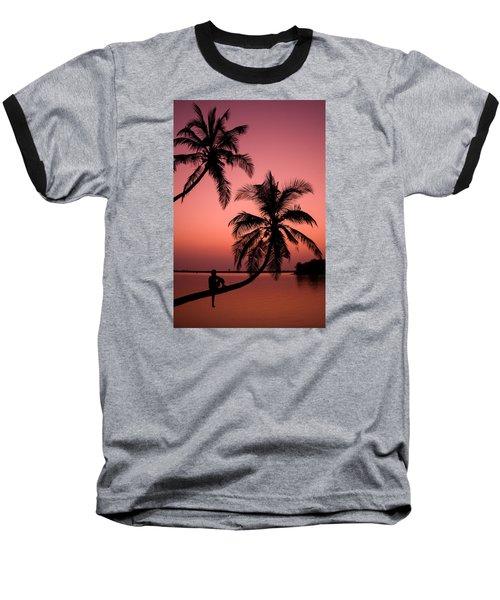 Red Sunset In The Tropics Baseball T-Shirt