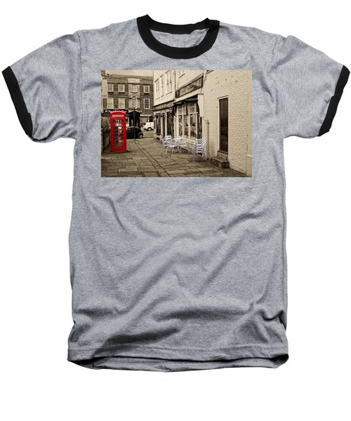 Red Telephone Box Baseball T-Shirt