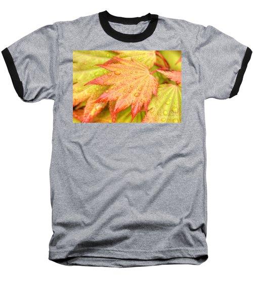 Red Tip Leaf Baseball T-Shirt